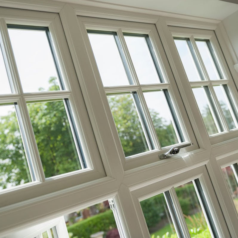 sculpted casement window